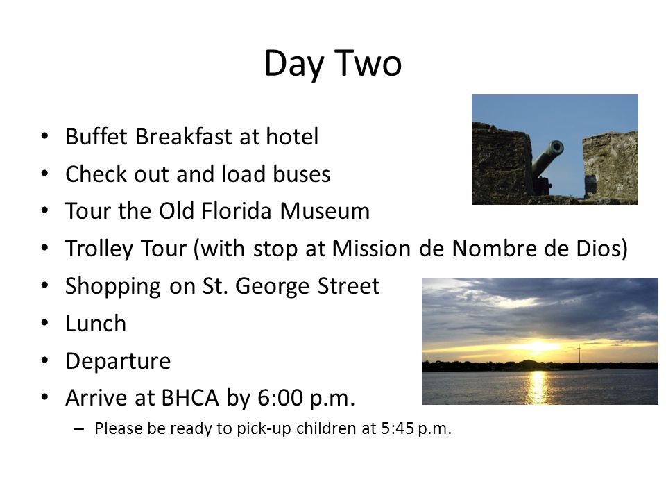 Day Two Buffet Breakfast at hotel Check out and load buses