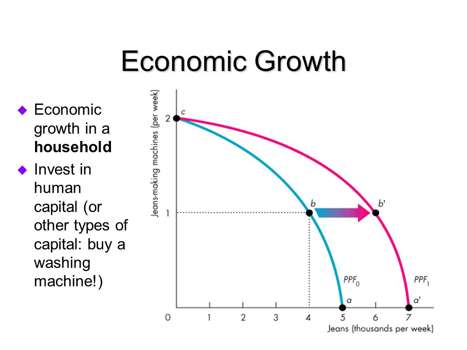 Economic Growth Economic growth in a household