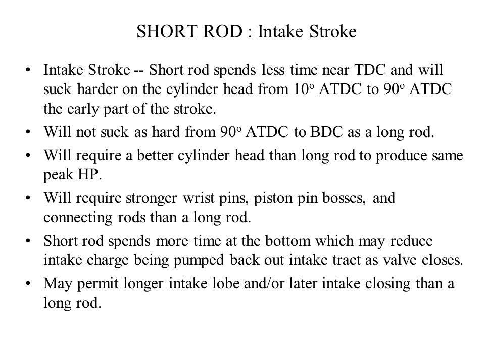 SHORT ROD : Intake Stroke