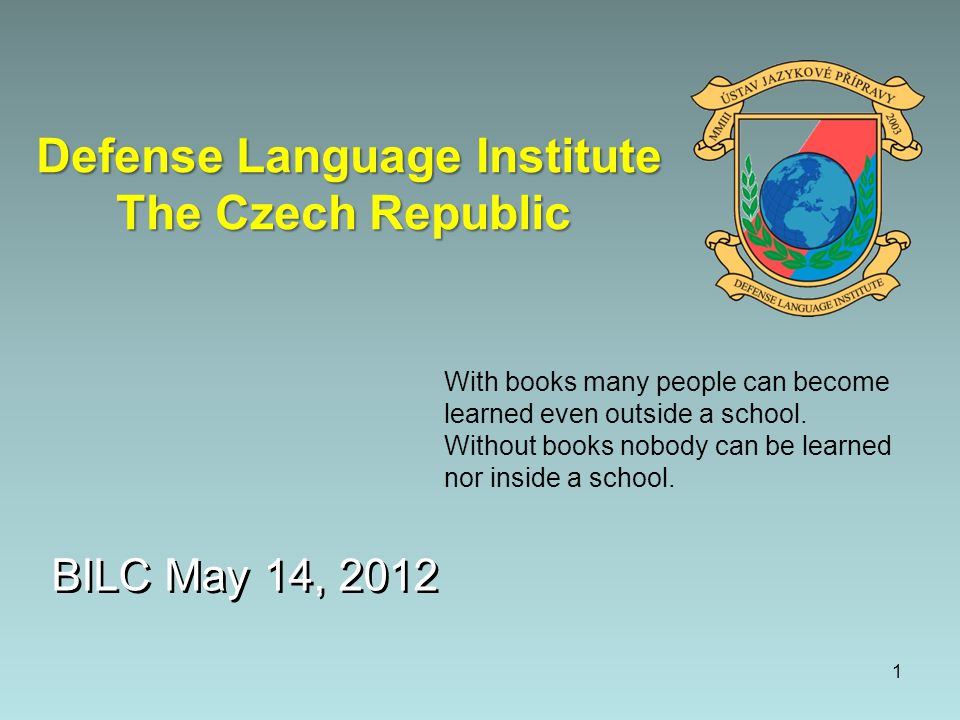 Defense Language Institute The Czech Republic