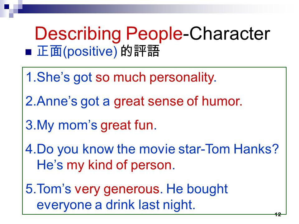 Describing People-Character