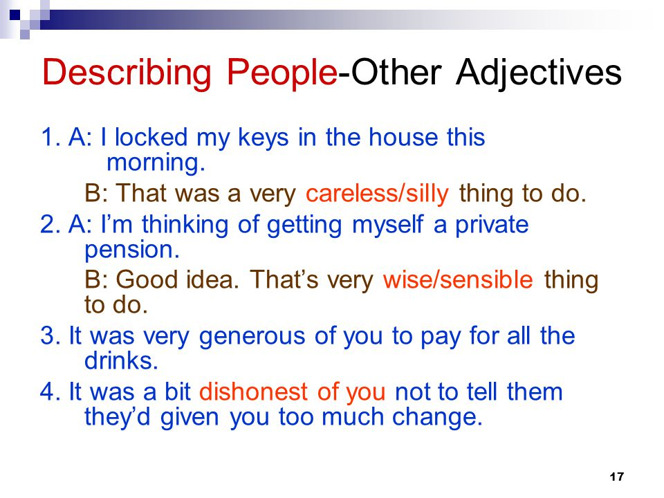 Describing People-Other Adjectives