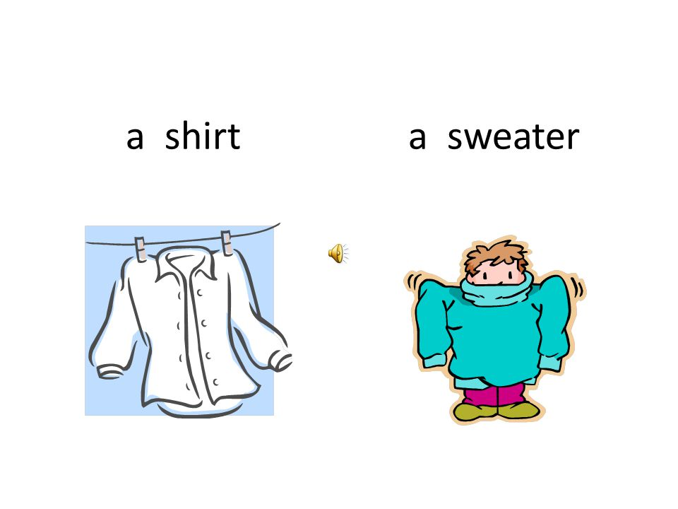 a shirt a sweater