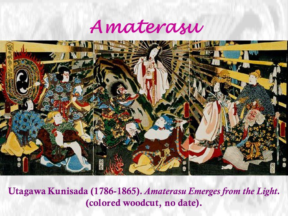 Amaterasu Utagawa Kunisada (1786-1865). Amaterasu Emerges from the Light.