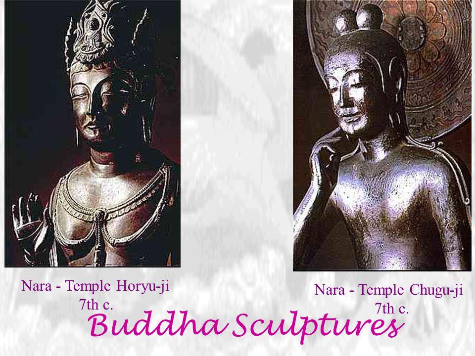 Buddha Sculptures Nara - Temple Horyu-ji 7th c.