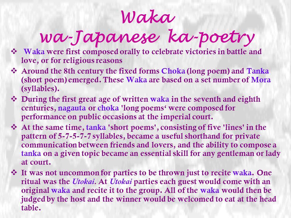 Waka wa-Japanese ka-poetry