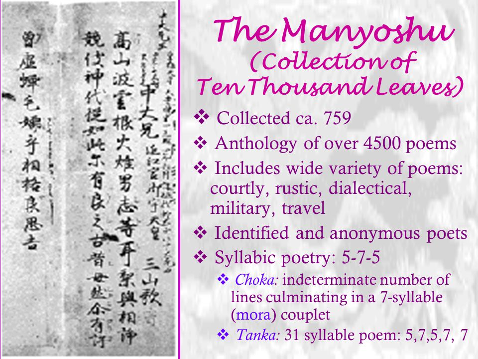 The Manyoshu (Collection of Ten Thousand Leaves)