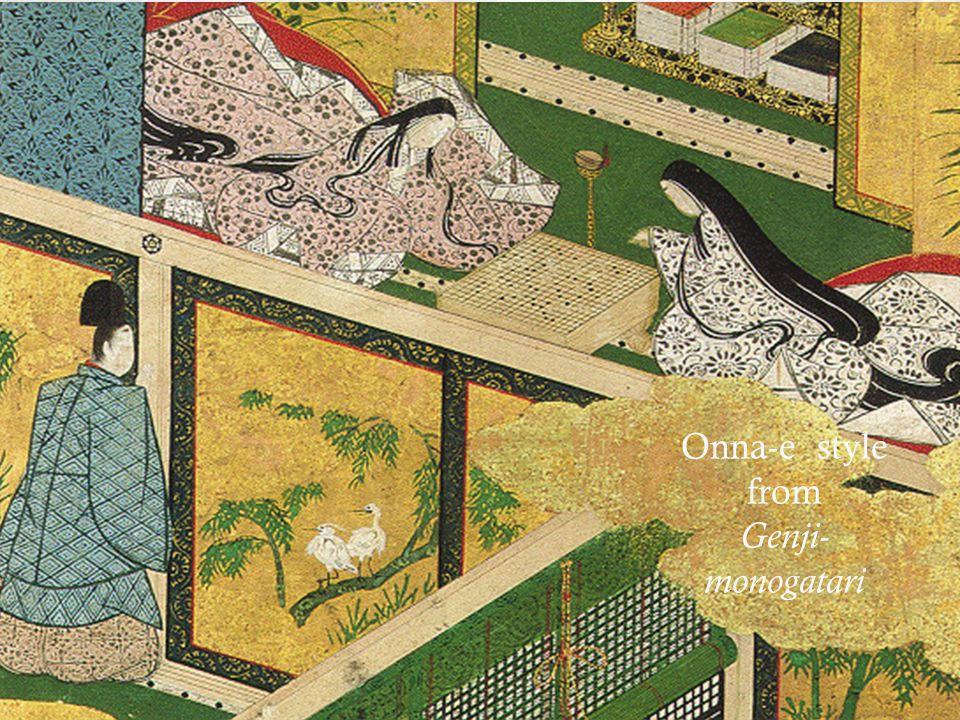 Onna-e style from Genji-monogatari