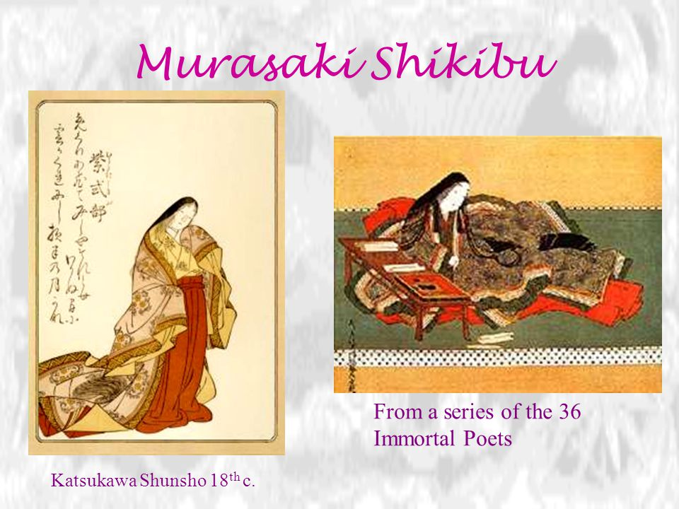 Murasaki Shikibu From a series of the 36 Immortal Poets