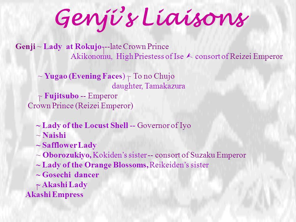 Genji's Liaisons Genji ~ Lady at Rokujo---late Crown Prince