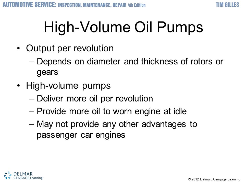High-Volume Oil Pumps Output per revolution High-volume pumps