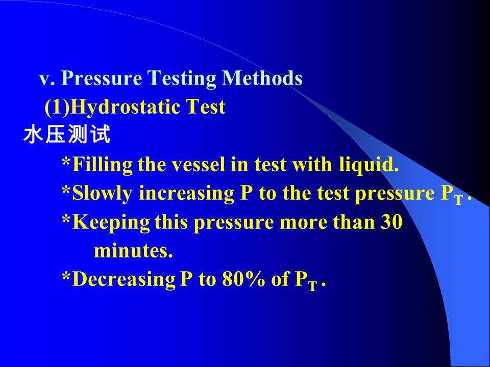 v. Pressure Testing Methods