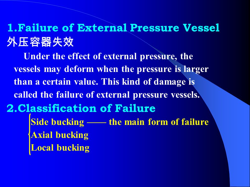 1.Failure of External Pressure Vessel 外压容器失效