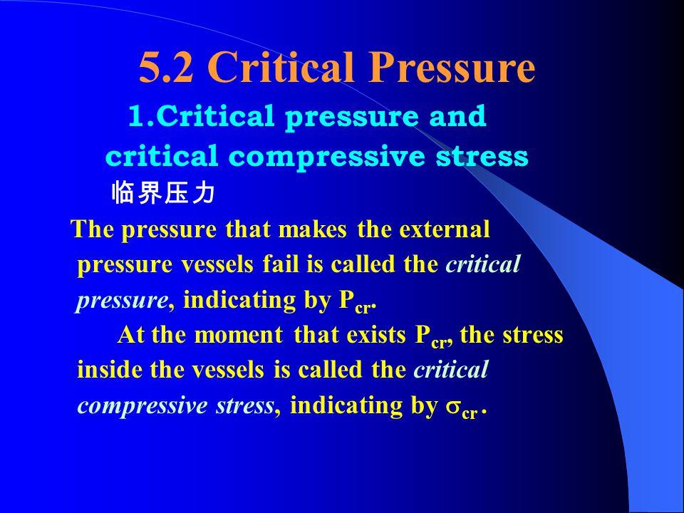 5.2 Critical Pressure 1.Critical pressure and