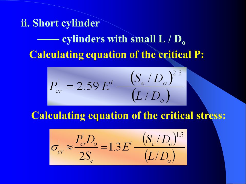 ii. Short cylinder —— cylinders with small L / Do.