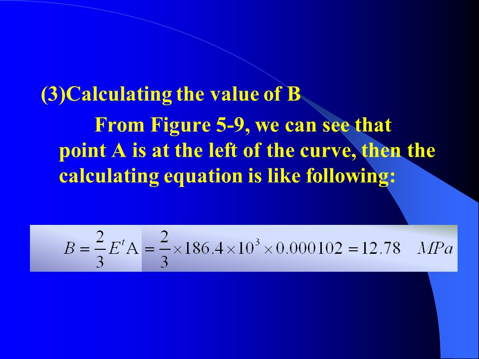(3)Calculating the value of B
