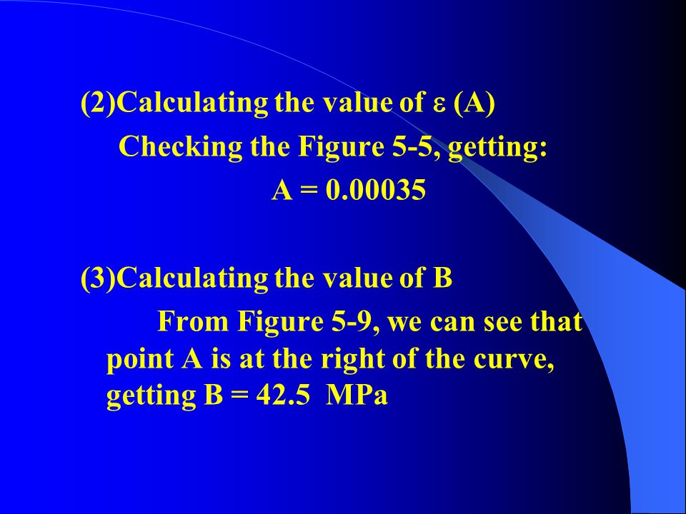 (2)Calculating the value of  (A)