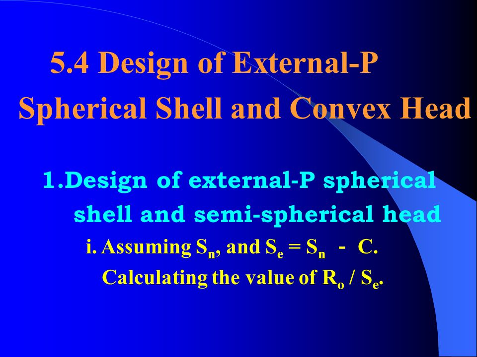 Spherical Shell and Convex Head