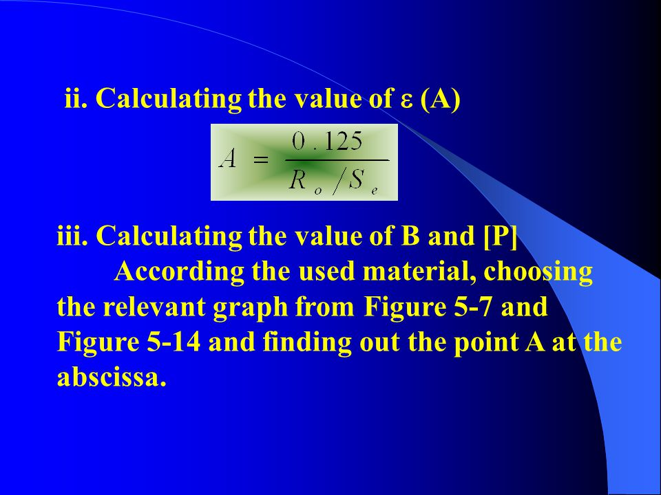 ii. Calculating the value of  (A)