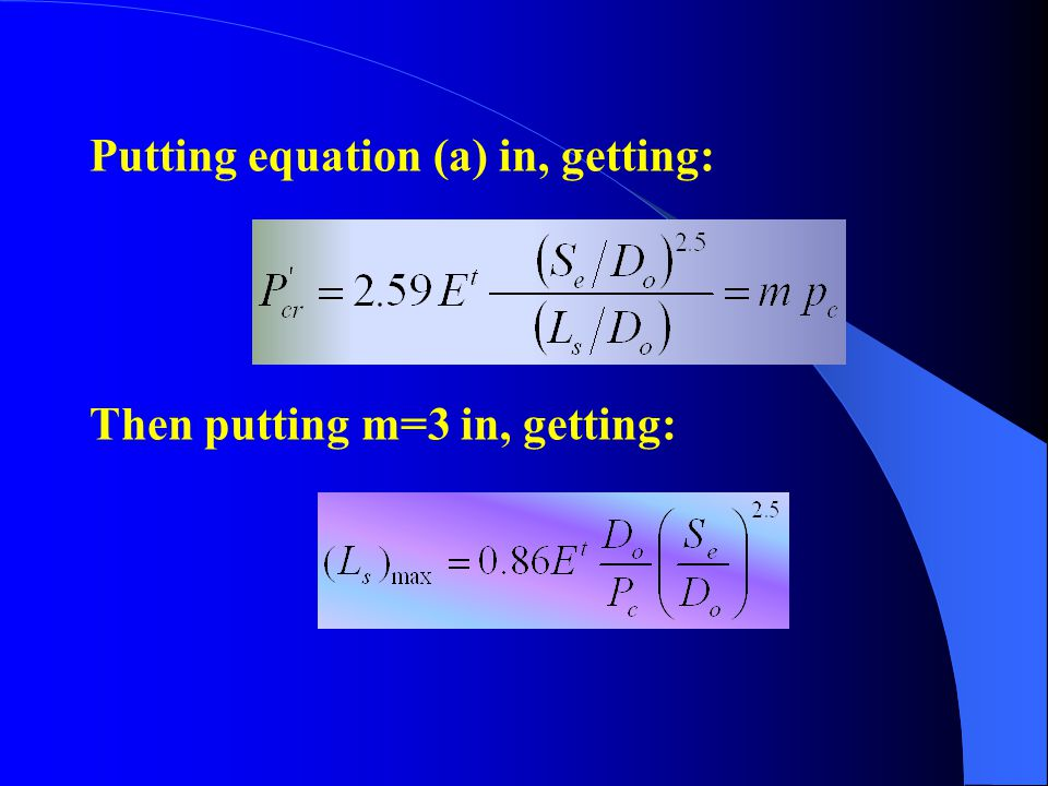 Putting equation (a) in, getting: