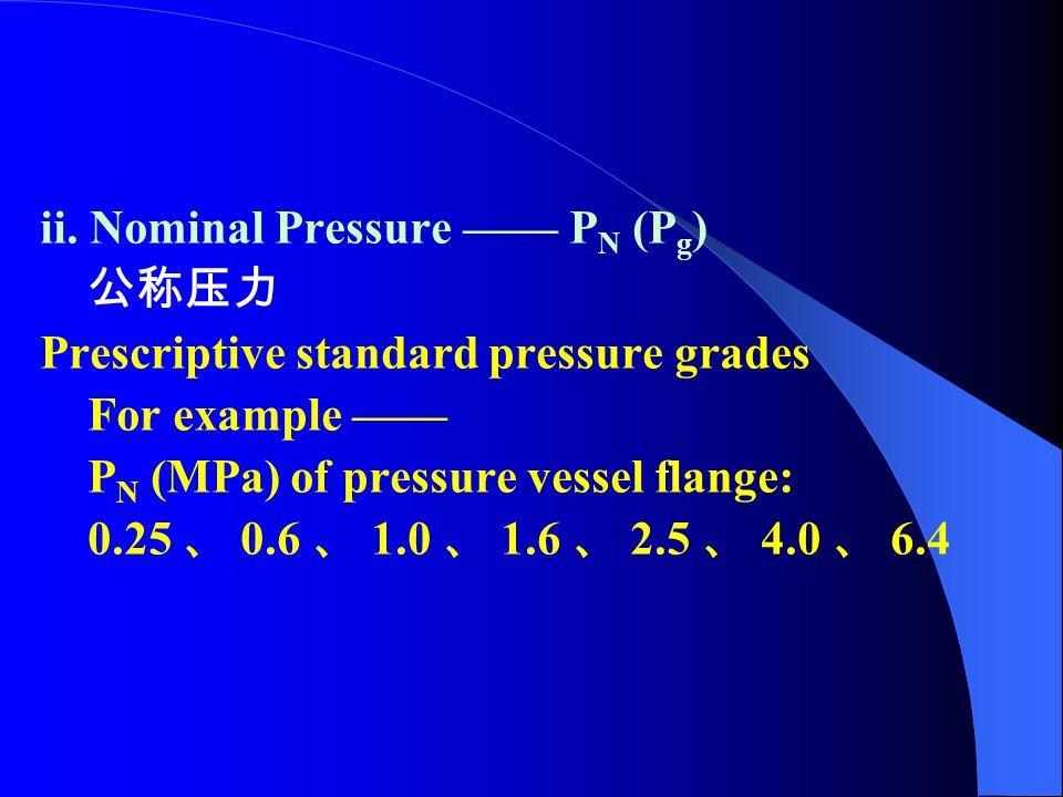ii. Nominal Pressure —— PN (Pg)