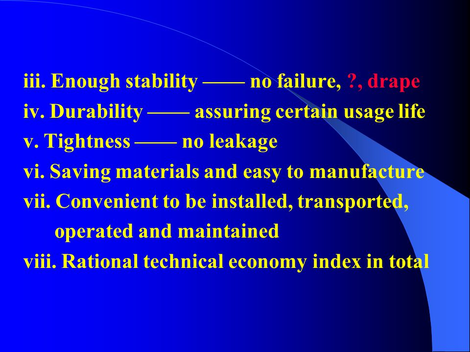 iii. Enough stability —— no failure, , drape