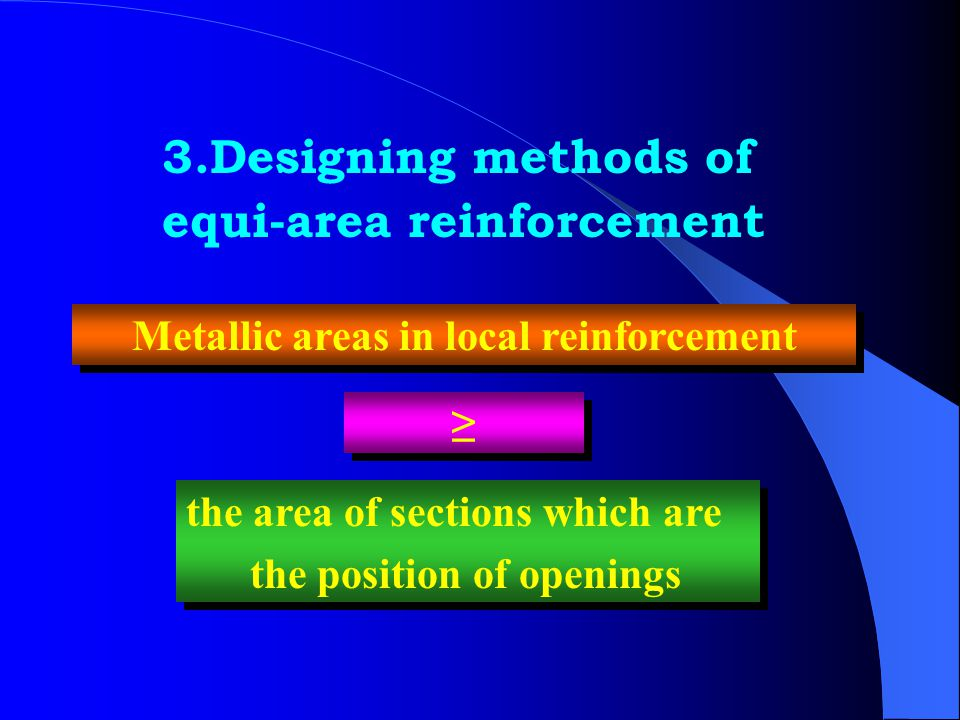 Metallic areas in local reinforcement