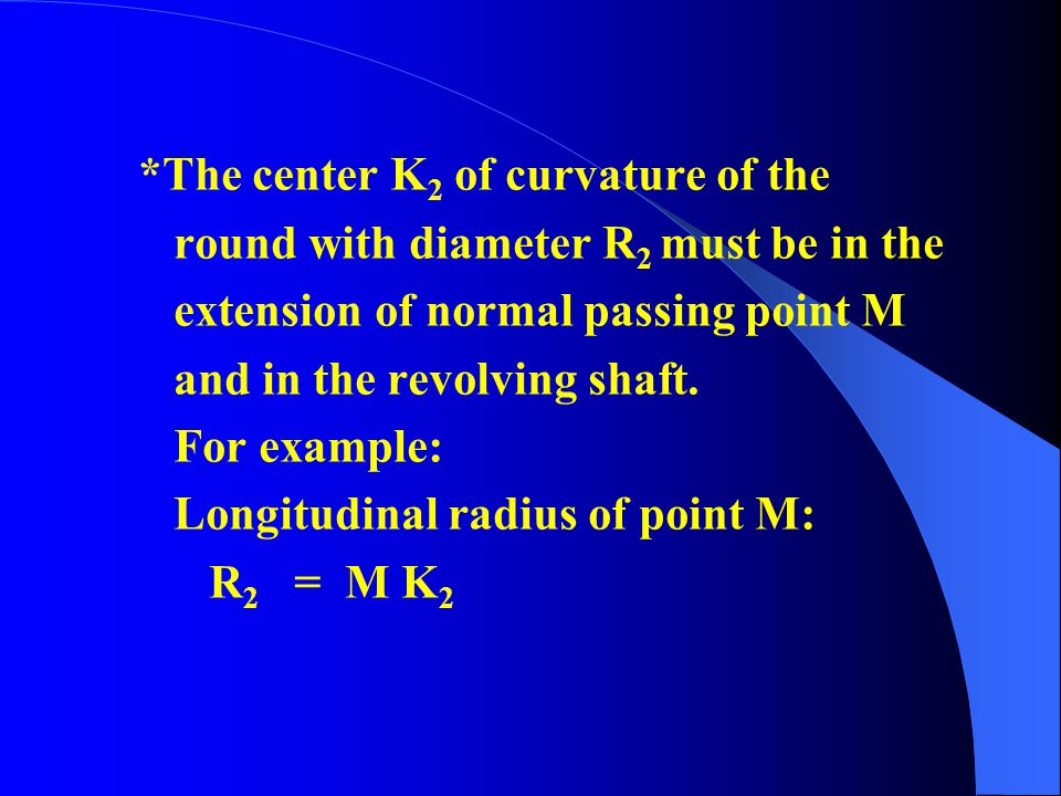 *The center K2 of curvature of the