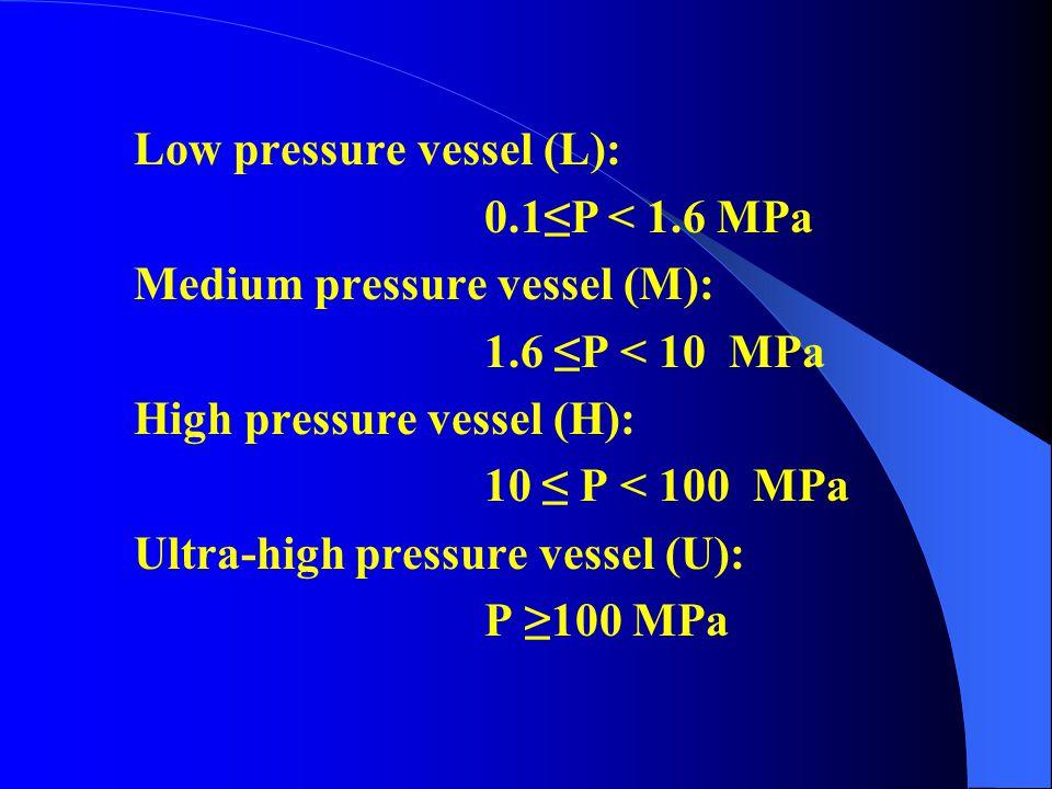Low pressure vessel (L):