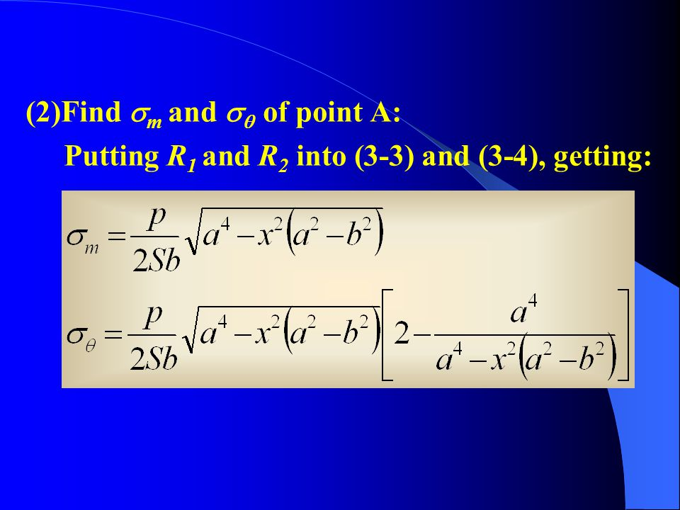 (2)Find m and  of point A: