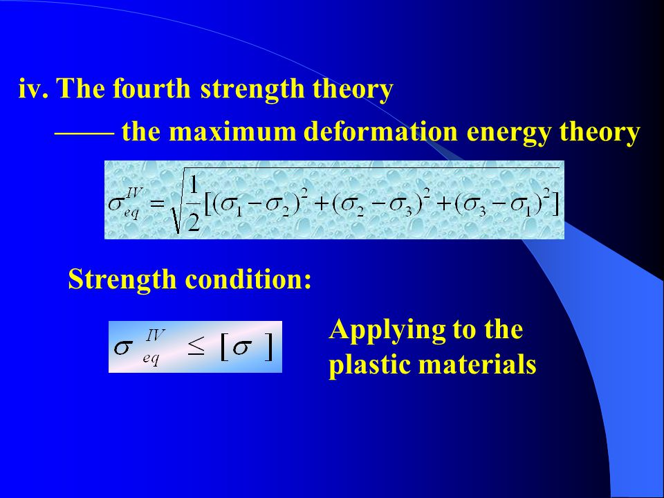 iv. The fourth strength theory