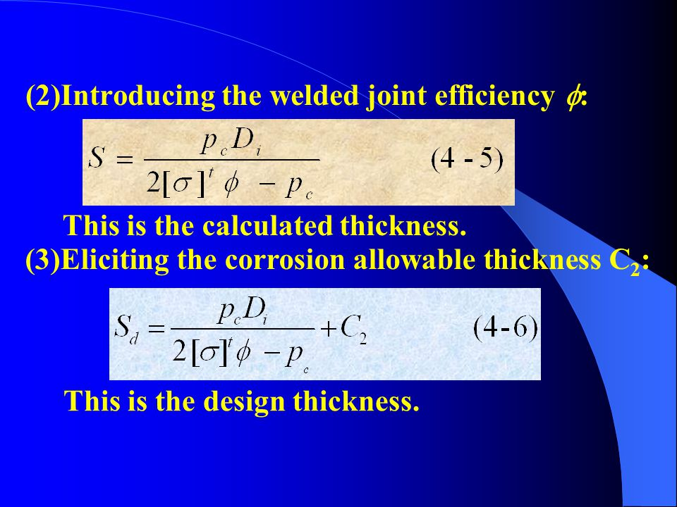 (3)Eliciting the corrosion allowable thickness C2: