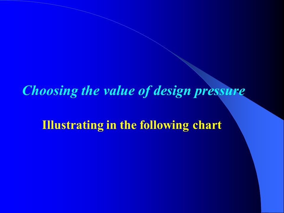 Choosing the value of design pressure