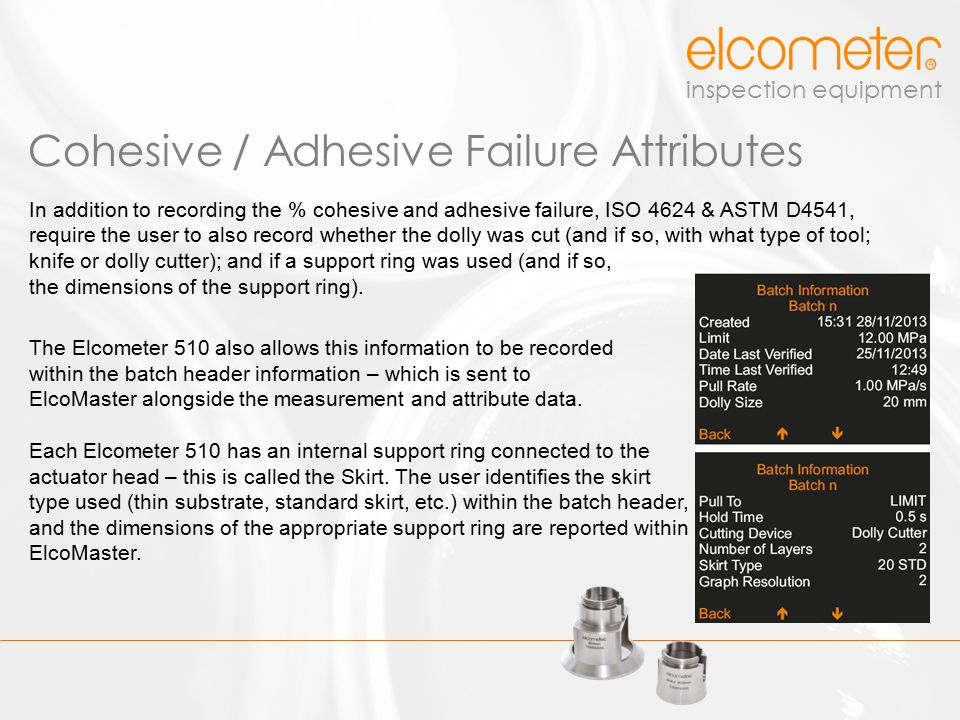 Cohesive / Adhesive Failure Attributes
