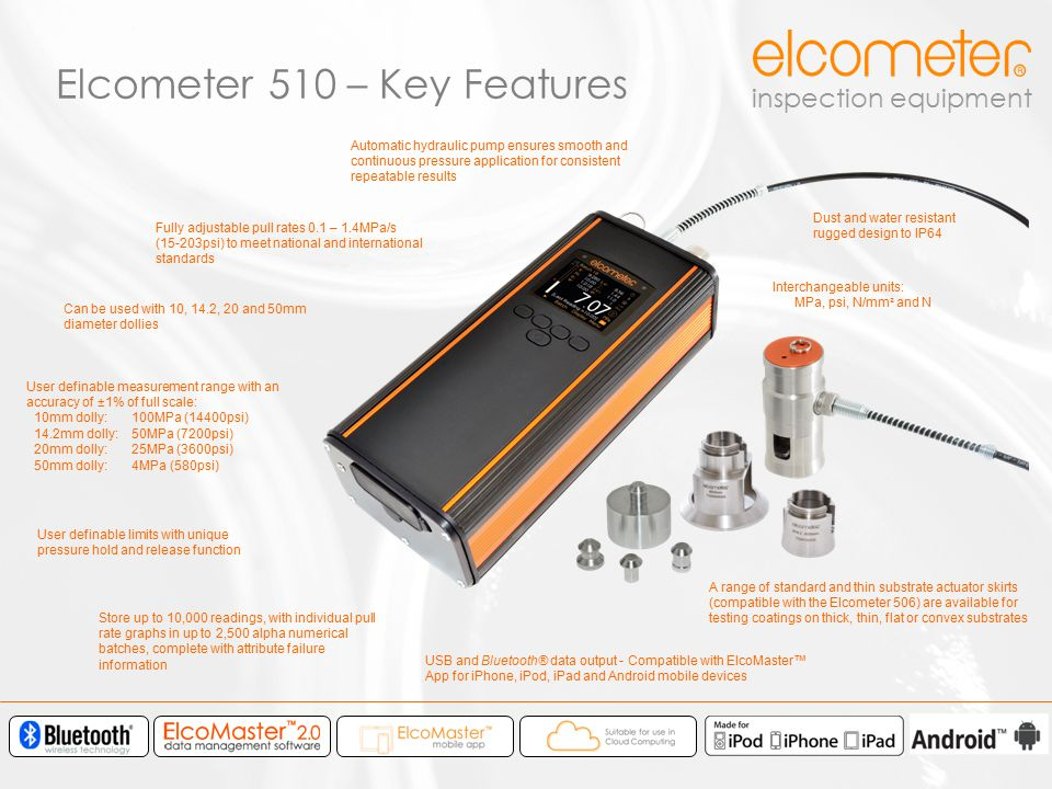Elcometer 510 – Key Features