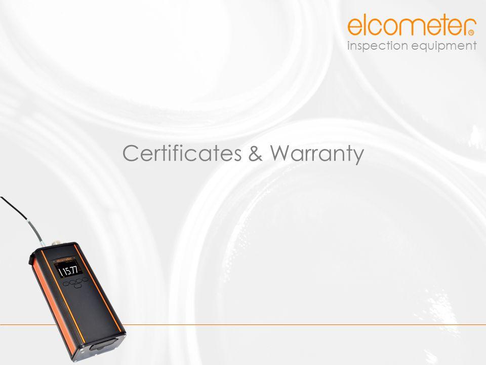 Certificates & Warranty