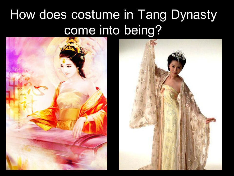 How does costume in Tang Dynasty come into being