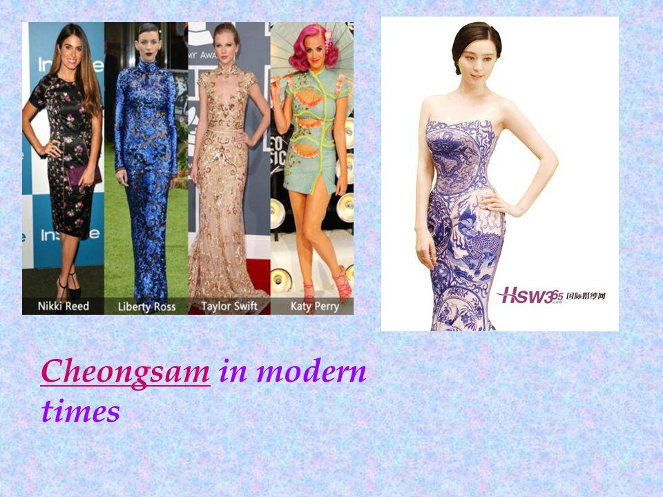 Cheongsam in modern times