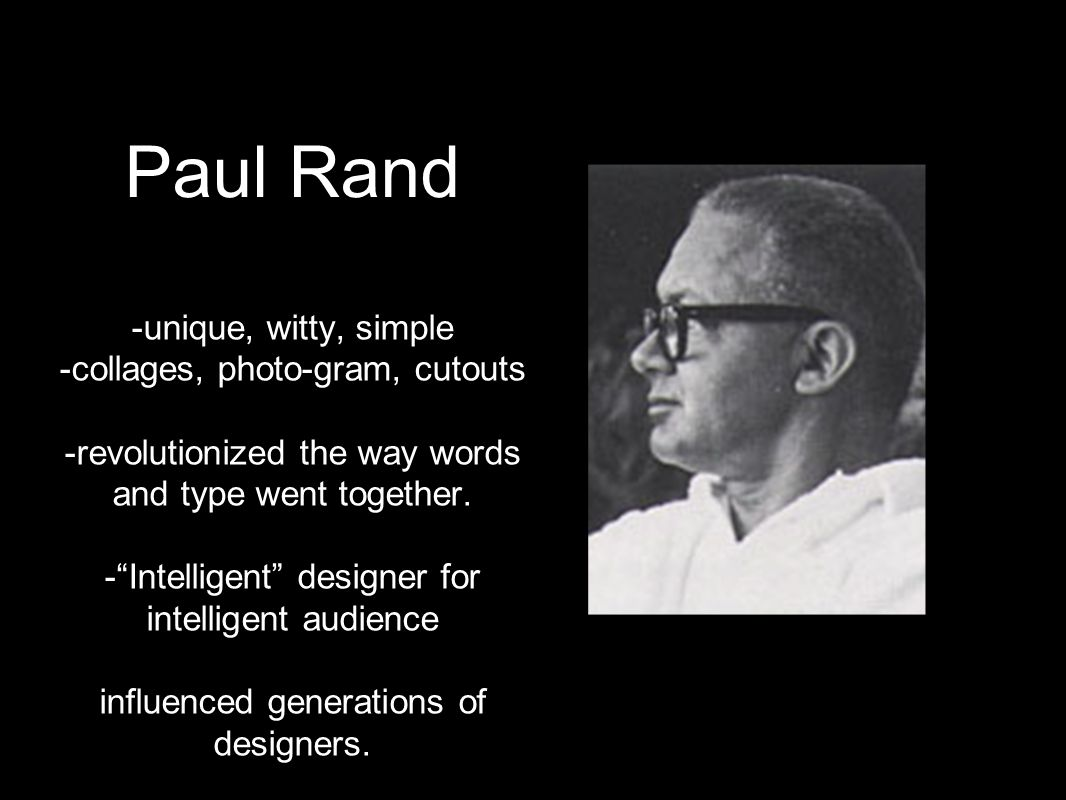Paul Rand -unique, witty, simple -collages, photo-gram, cutouts