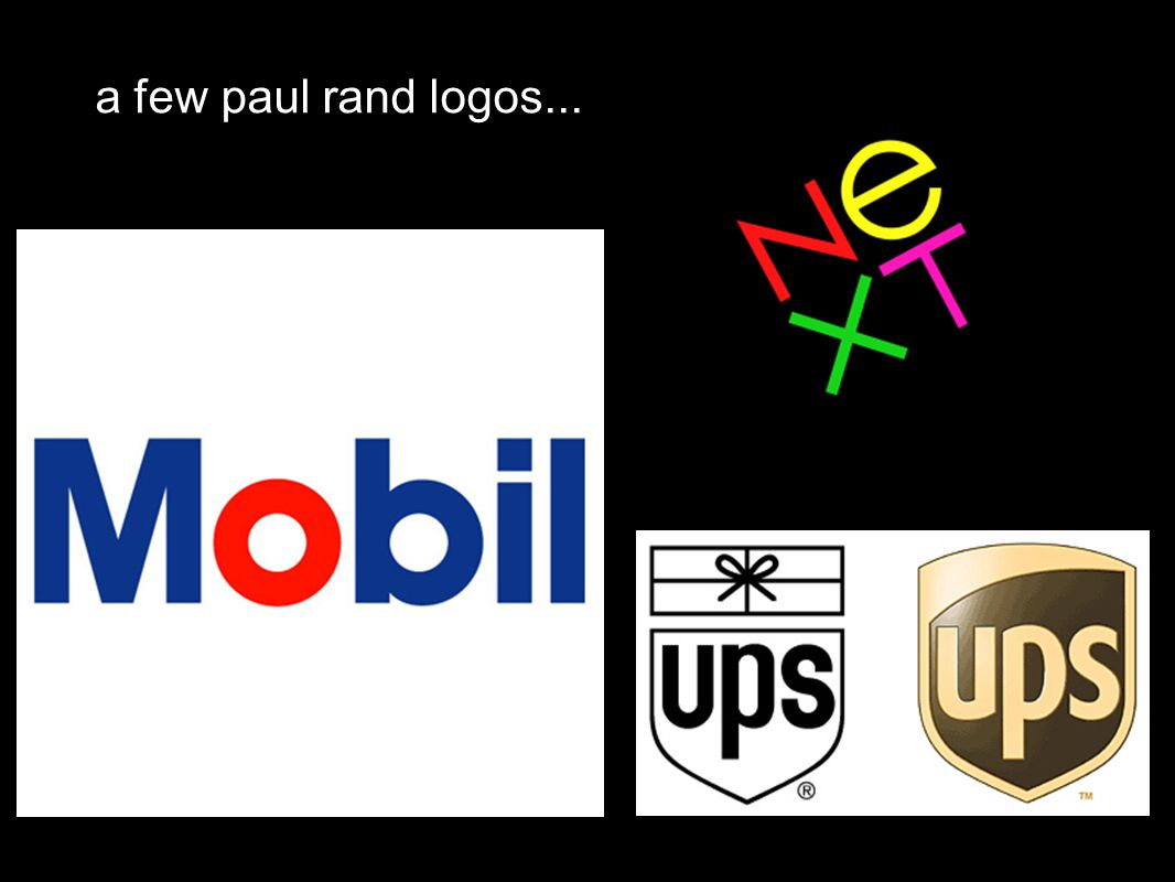 a few paul rand logos...