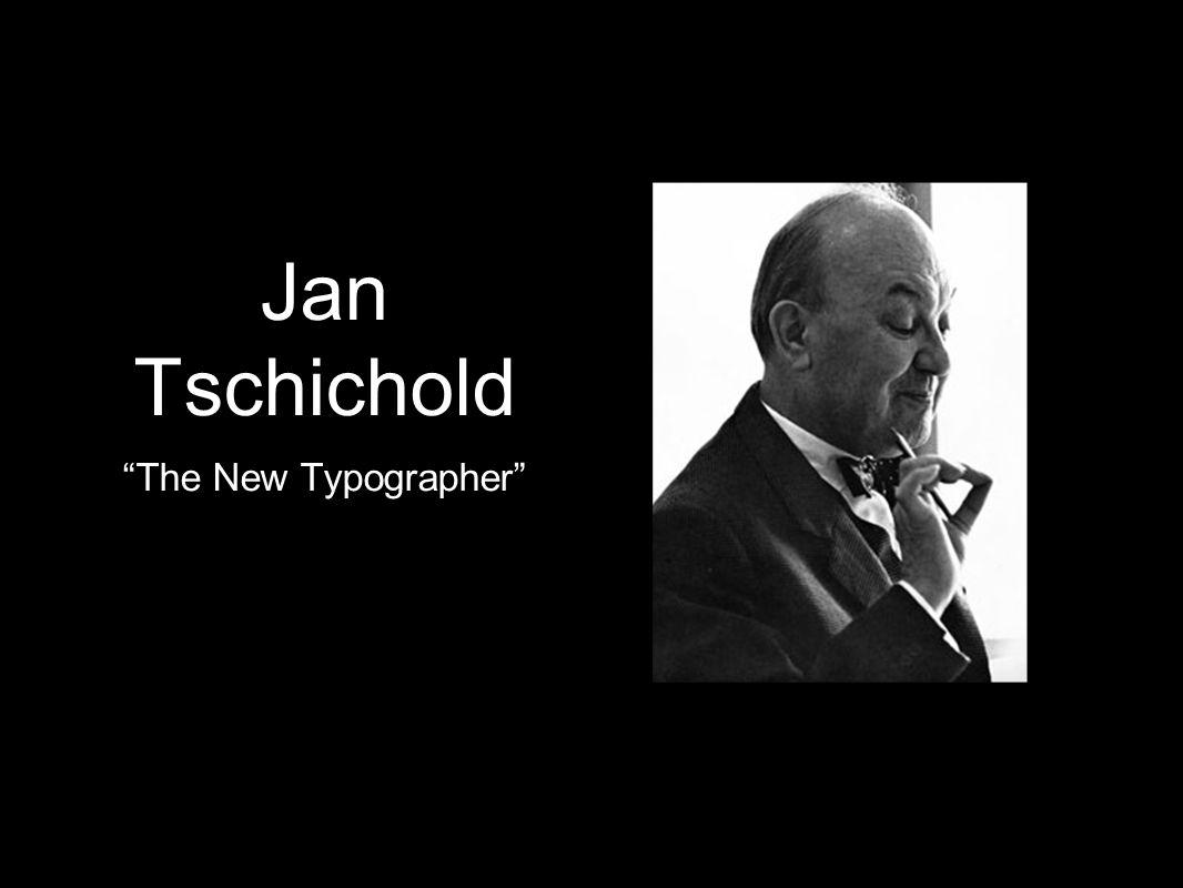 Jan Tschichold The New Typographer