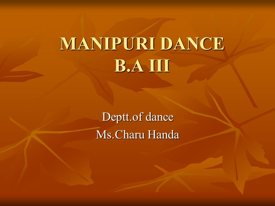 Deptt.of dance Ms.Charu Handa