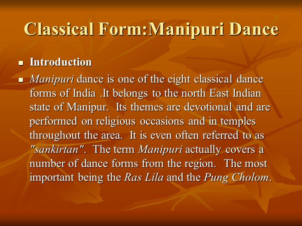 Classical Form:Manipuri Dance