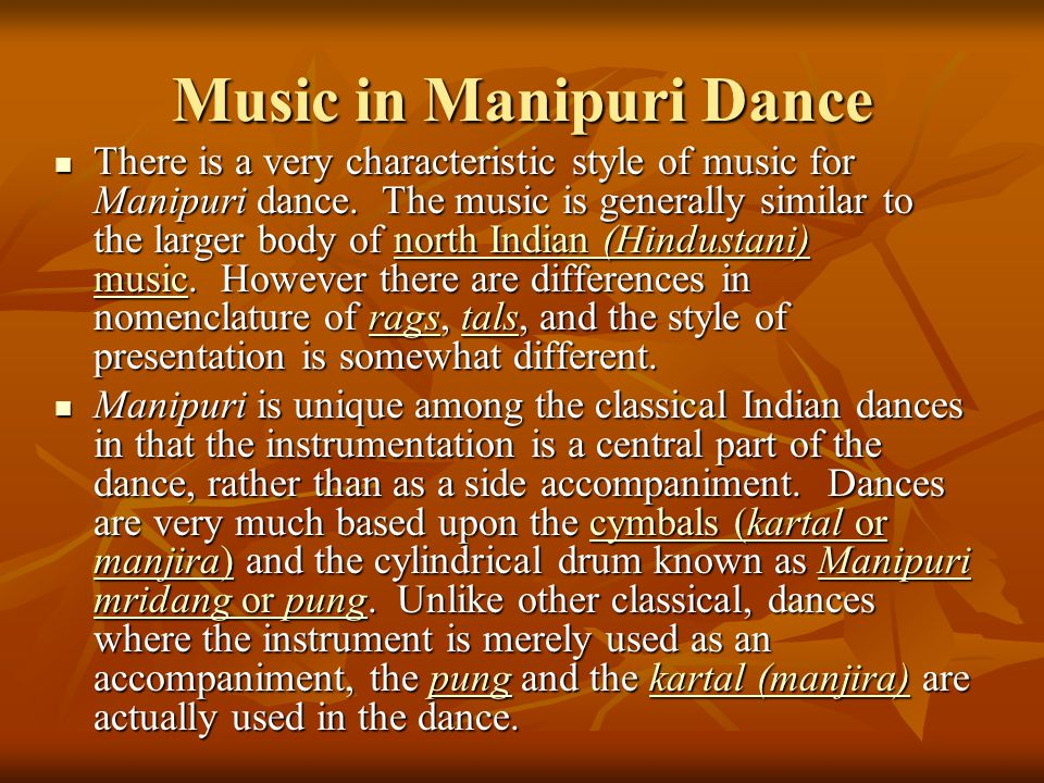 Music in Manipuri Dance