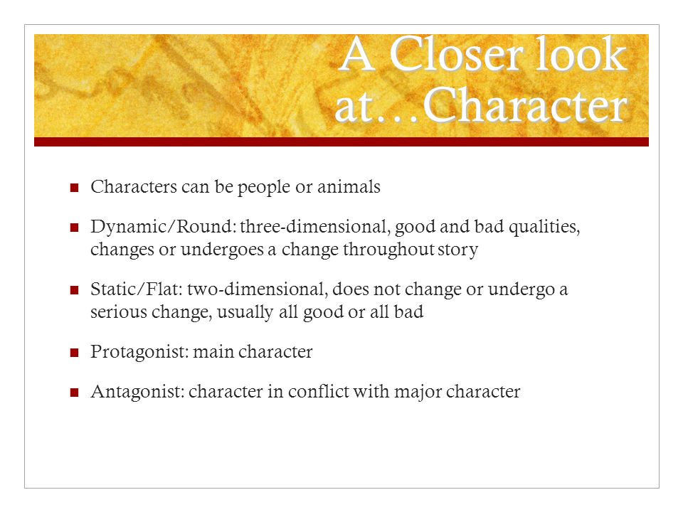 A Closer look at…Character