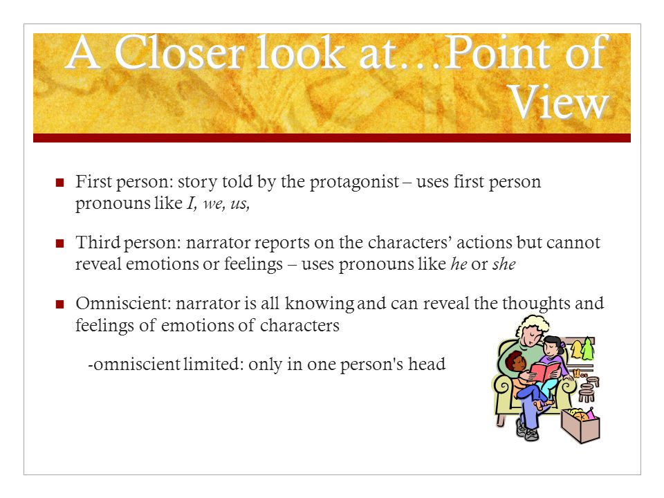 A Closer look at…Point of View