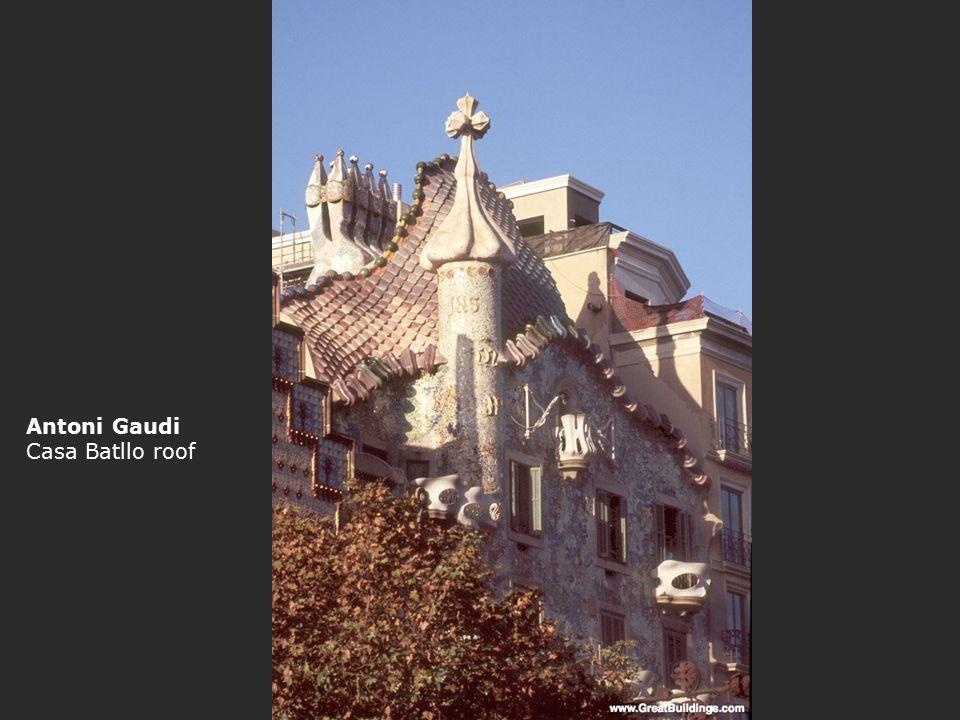 Antoni Gaudi Casa Batllo roof