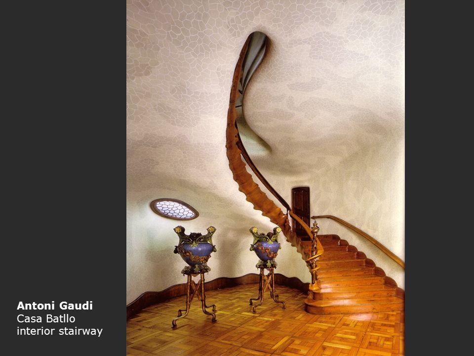 Antoni Gaudi Casa Batllo interior stairway
