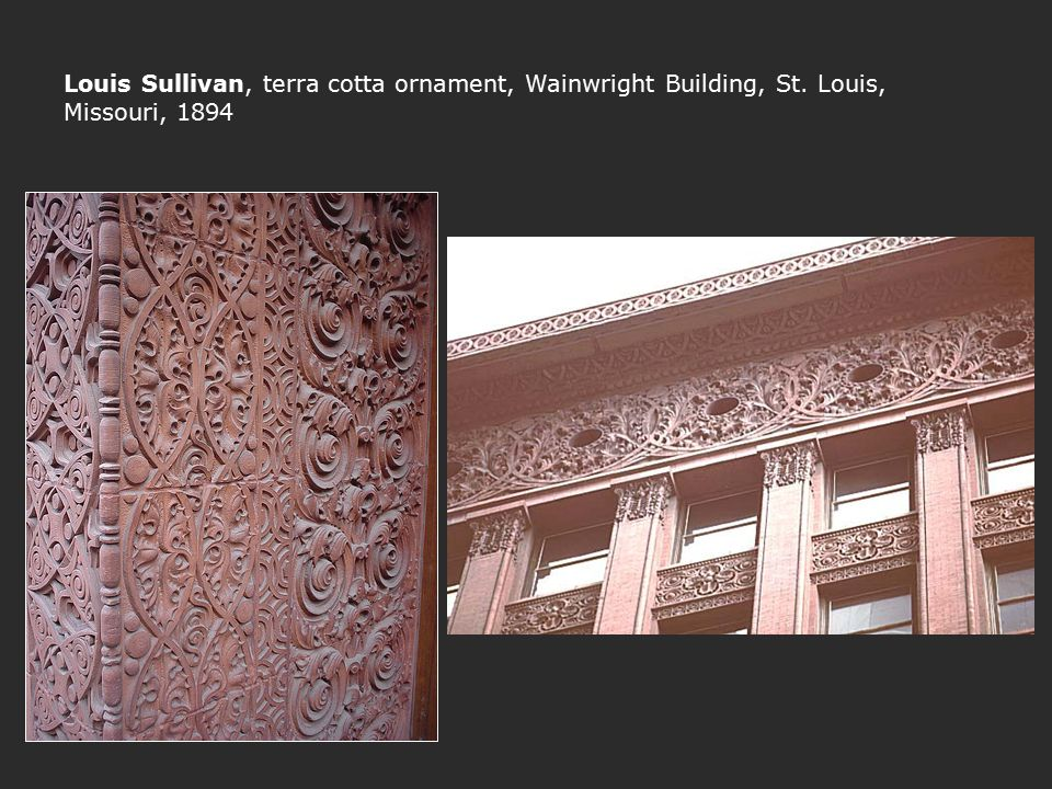 Louis Sullivan, terra cotta ornament, Wainwright Building, St