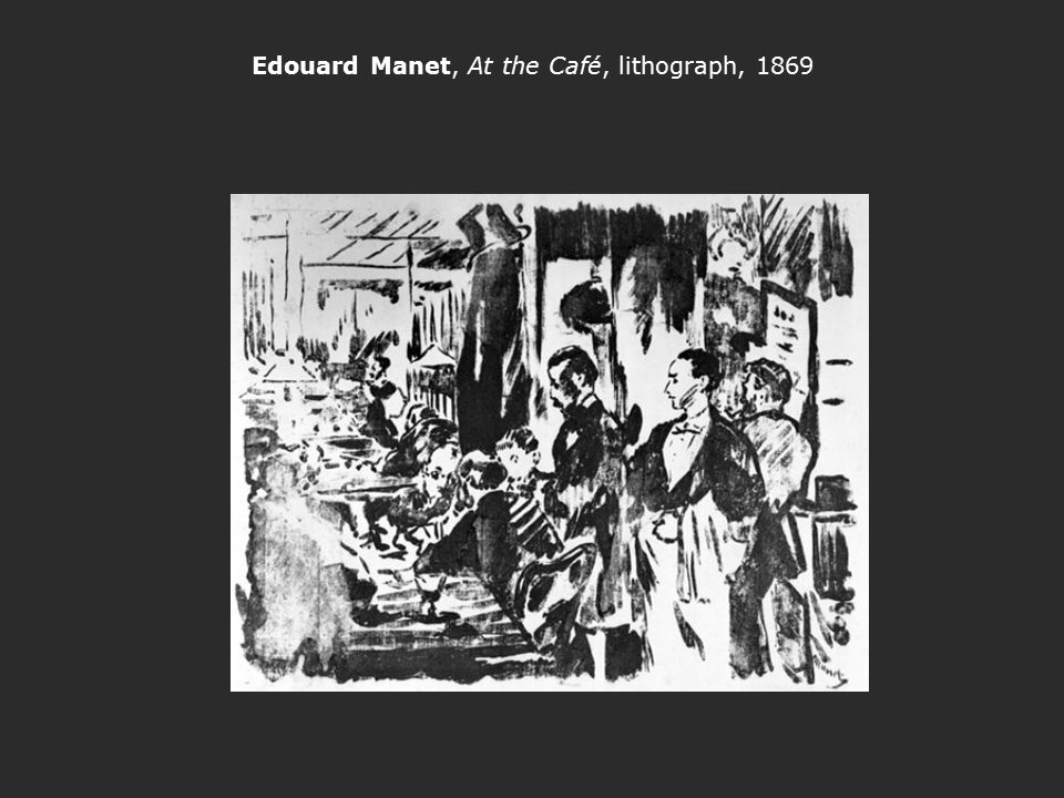Edouard Manet, At the Café, lithograph, 1869